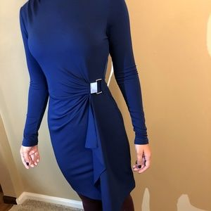 Michael Kors blue dress with silver buckle